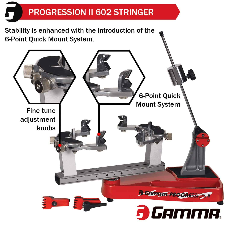Gamma Progression Tennis Racquet Stringing Machine number 2 side