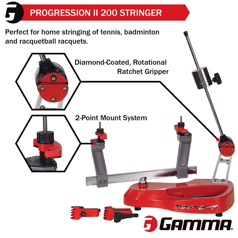 Gamma Progression Tennis Racquet Stringing Machine side