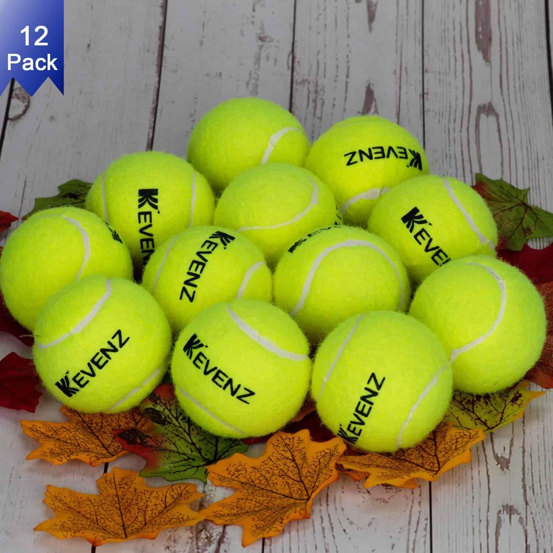 KEVENZ 12 Pack Standard Pressure Training Tennis Balls