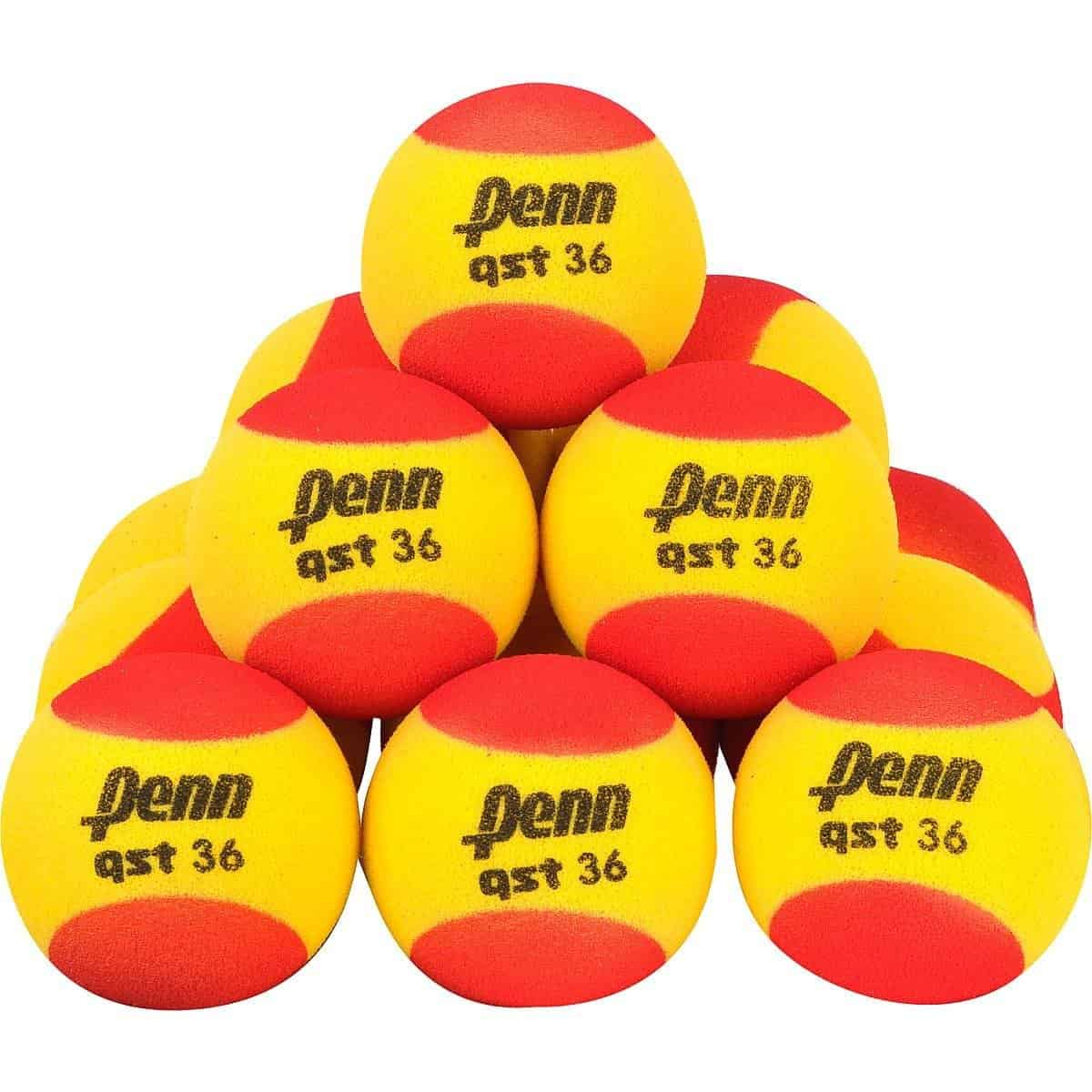 Penn Quick Start 36 Foam 12 Pack Tennis Balls 12 Pack