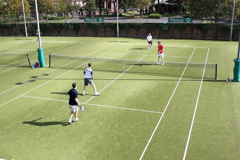 Tennis Doubles Grass