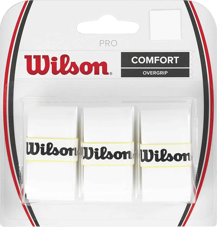 Wilson Pro Tennis Racquet Over Grip white
